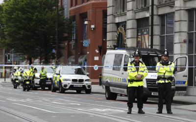 Agentes de la policía británica en Manchester