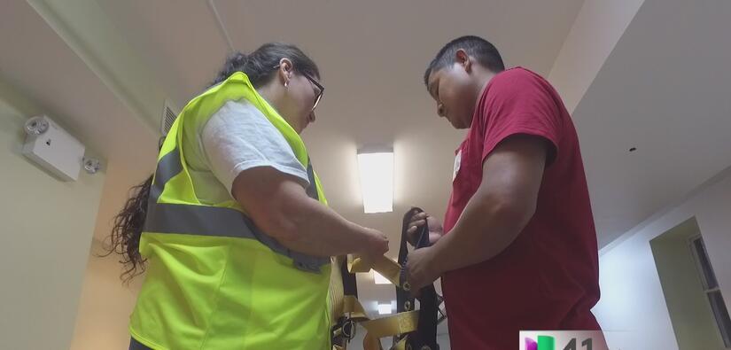 Entrenamiento de seguridad para trabajadores de la construcción