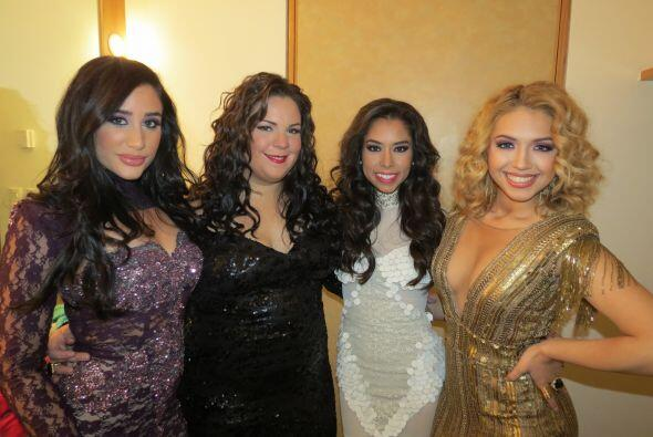 ¡Puras bellas! Geissie Torres, Yazaira, Virginia y Paloma Carrasco.