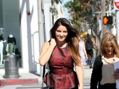 La cantante y actriz fue captada en Los Ángeles durante un d&iacu...