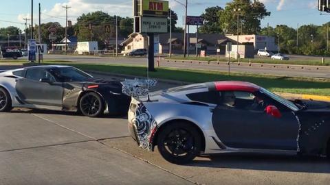 Espían al Corvette ZR1 2018