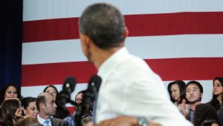 El Presidente Barack Obama es interrumpido por el estudianteJu Hong, qu...