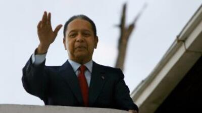 Jean Claude Duvalier dijo que regresó al país con el fin de participar e...