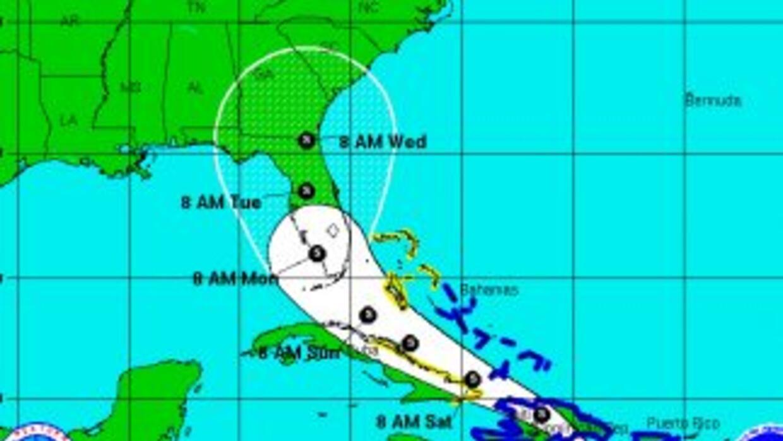 El avance que se espera de la tormenta tropical Erika.