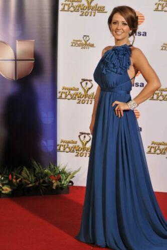 Andrea Legarreta usó este vestido sencillo pero elegante en 2011.