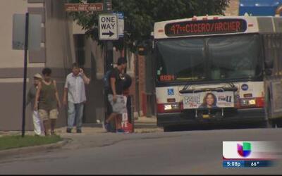 Mujer herida de bala en bus de Cta
