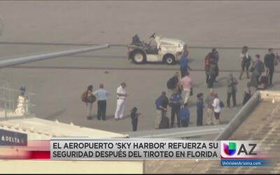 Incrementan seguridad en aeropuerto Sky Harbor después del tiroteo en Fl...