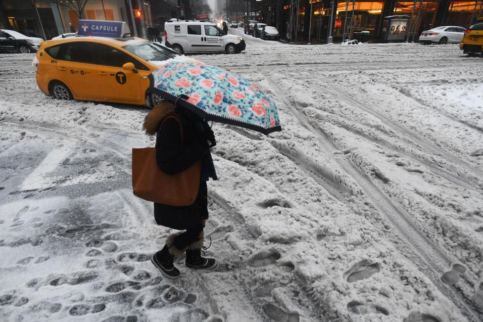 Aunque las acumulaciones de nieve proyectadas originalmente por el Servi...