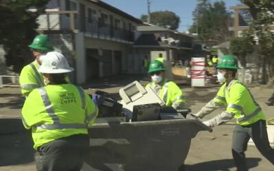 Prosiguen los trabajos de limpieza luego de las inundaciones en San José