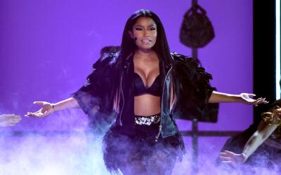 LAS VEGAS, NV - MAY 17: Recording artist Nicki Minaj performs onstage du...