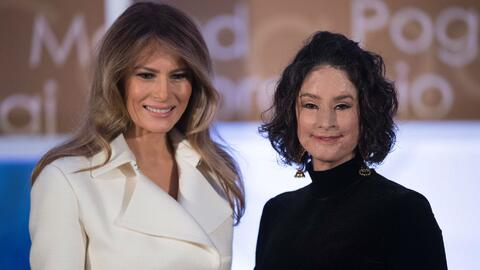 Melania Trump entregó a 13 mujeres el premio 'mujeres Valientes'