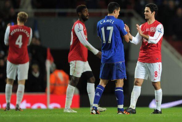 En otro de los partidos de la fecha, Arsenal venció al Everton 1...