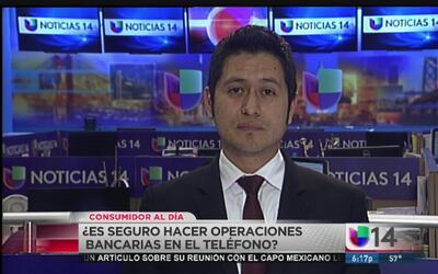 ¿Es seguro hacer transacciones bancarias a través del teléfono?