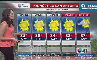 Semana cálida para San Antonio