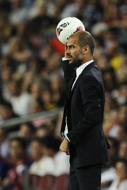 Guardiola se mostró tranquilo y le pidió a sus jugadores cuidar la pelota.