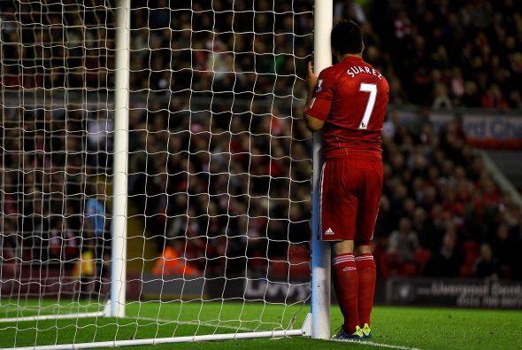 El delantero quedó disconforme con la actuación de su equipo.