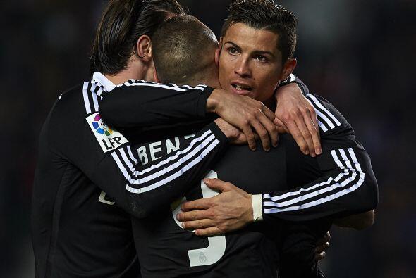 Con goles de Karim Benzema y Cristiano Ronaldo, Real Madrid derrotó de v...