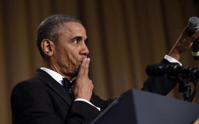 El presidente de Estados Unidos, Barack Obama, concluye su intervención...