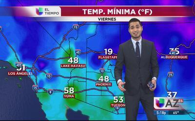 Aire seco y frío baja las temperaturas al norte del estado