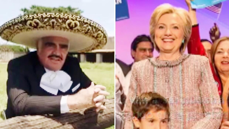 Vicente Fernández le escribió y dedicó un corrido norteño a Hillary Clinton