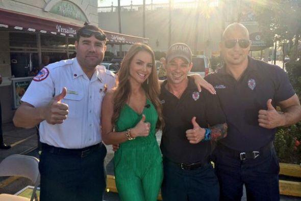 """""""Los bomberos de la ciudad de Miami cantaron el tema del weather en @Des..."""
