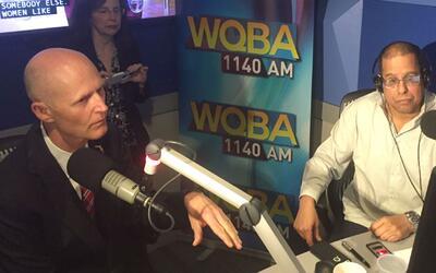 """El gobernador Rick Scott conversa con """"A Esta Hora Con Almora"""""""