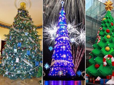 Estos árboles de navidad nada tienen de comunes, algunos han roto...