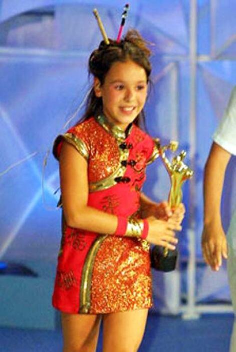 ¿Tan chiquita y ya con un premio? Danna Paola siempre ha sido una niña m...
