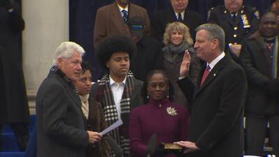 Bill De Blasio juró oficialmente a su cargo de alcalde de Nueva York