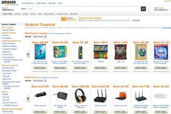 Amazon.com  El sitio que vende de todo tiene algo nuevo: ¡cupones! Ve a...