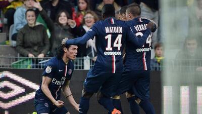El 'Matador' Cavani abrió el marcador en este último triunfo del PSG, co...