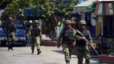 El comando armando regreso a la comunidad luego de que el Ejército mexic...