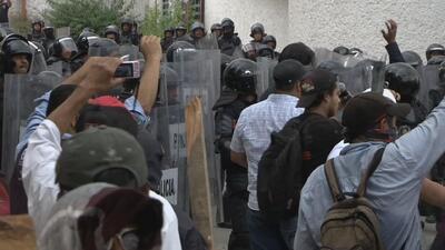 Violentas protestas en Chilpancingo, Guerrero