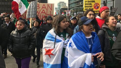 En Chicago se realizaron multitudinarias manifestaciones para apoyar 'Un...