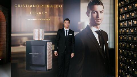 Cristiano Ronaldo en la presentación de su fragancia.