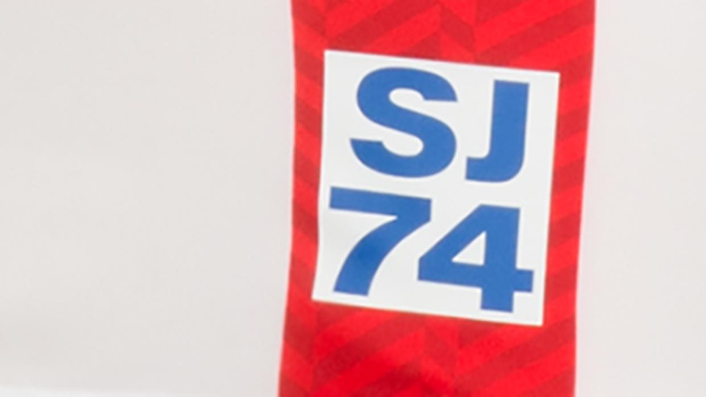 Detalles de la camiseta de visitante de los San Jose Earthquakes