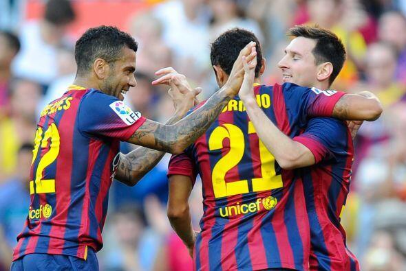 Lionel Messi colocaba el 2-0 cuando no se habían cumplido ni 15 minutos.