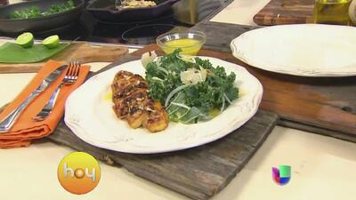Recetas de Hoy, ensalada de col rizada y pollo con el Chef Oropeza
