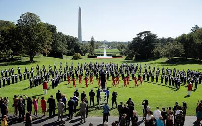 La banda de marcha de la Tennessee State University, que no participar&a...
