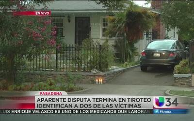 ¿Que provocó el tiroteo fatal en Pasadena?