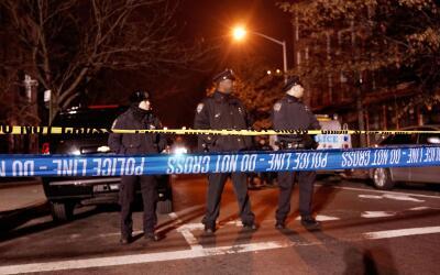 NYPD en la escena del crimen