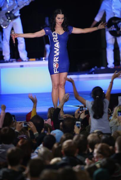 La cantante Katy Perry participó en un mitin en favor de la reelección d...
