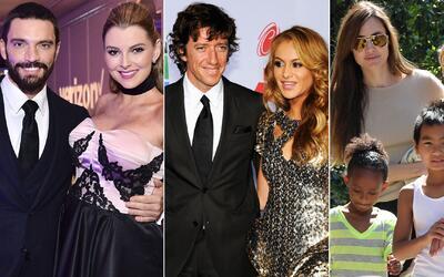 Famosas custodia hijos Marjorie de Sousa, Paulina Rubio, Angelina Jolie