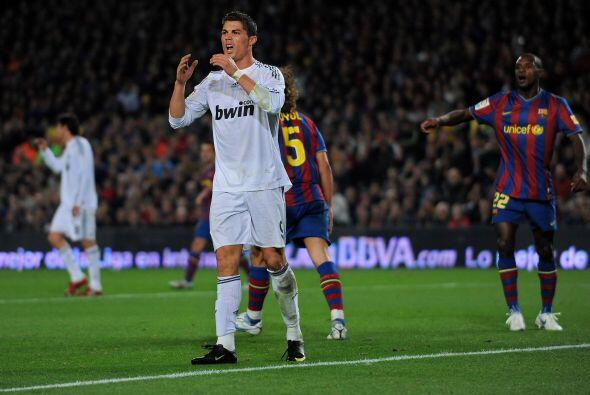 'CR7' jugó su primer clásico en Noviembre del 2009 y no pudo festejar. P...