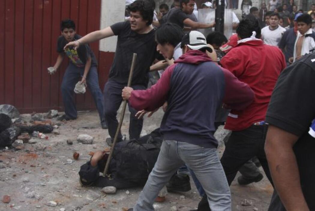 Ante la resistencia de los pobladores, la policía resguardó la zona. Fot...