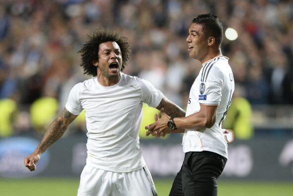 Marcelo liberó el júbilo al escuchar el silbato que daba fin al partido.