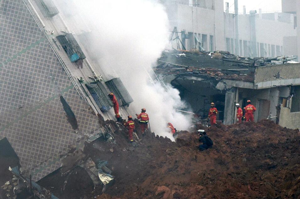 Hombre sobrevivió 60 horas tras deslave en China desastre1.jpg