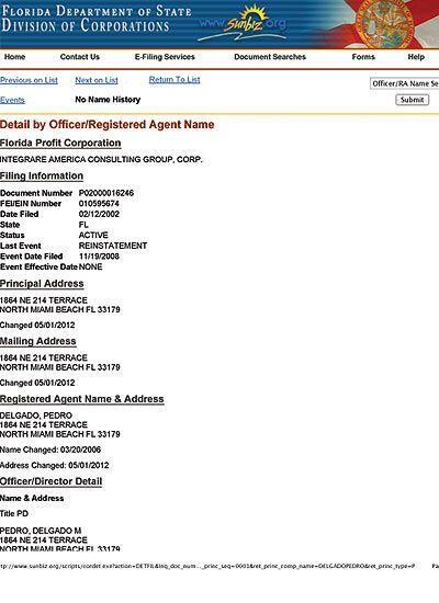 Autorización del Estado de Florida para las operaciones de Integrare Ame...