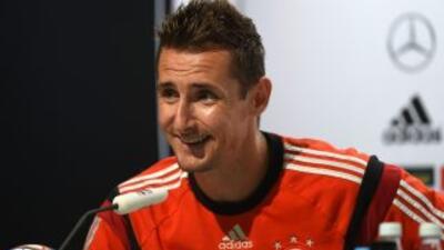Miroslav Klose aseguró qeu quiere tomarr revancha de la final que perdió...