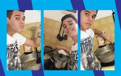 Zabdiel is one cute cook